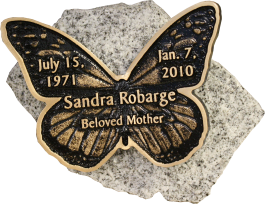 Robarge butterfly granite memorial