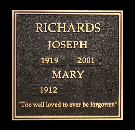 Richards granite memorial