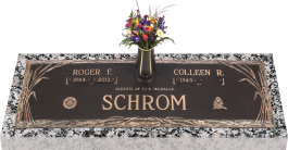 Schrom granite memorial