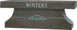 Winter granite memorial