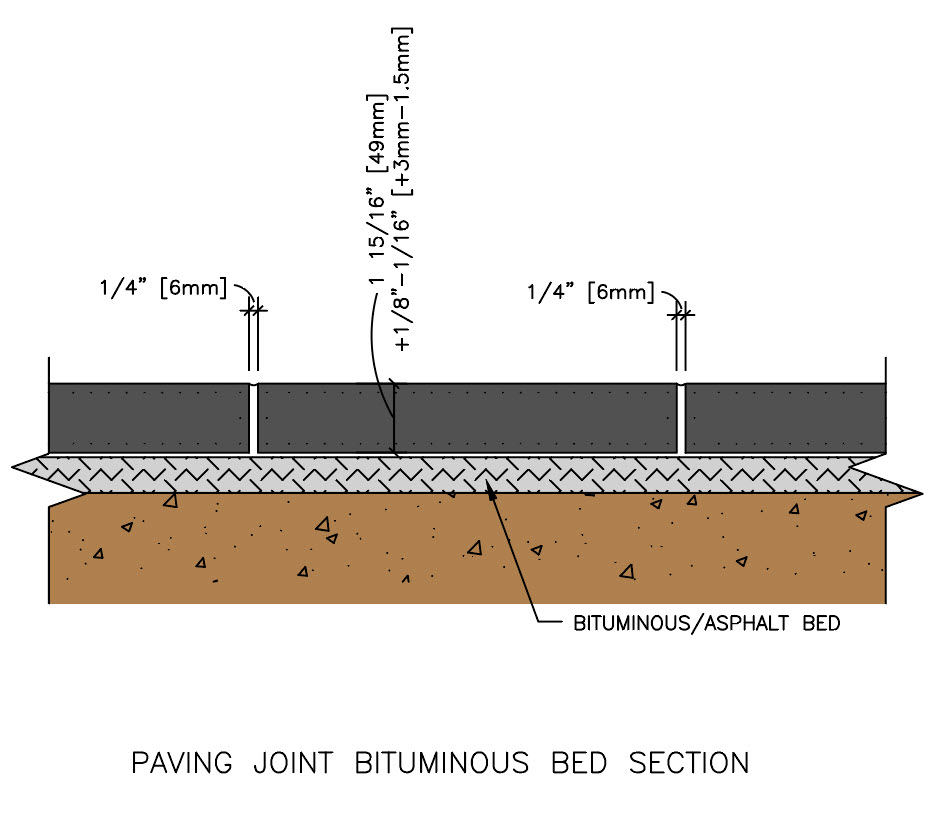 Paving Joint Bituminous Bed Section