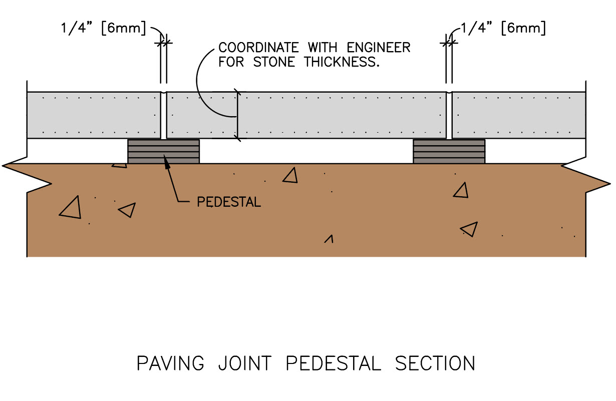 Paving Joint Pedestal Section